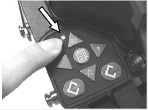 Bật nguồn máy hàn cáp quang FSM-50S