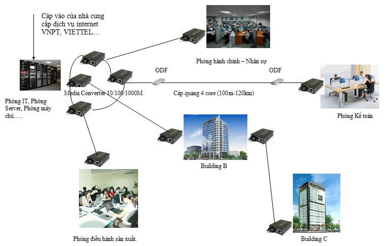 hệ thống mạng cáp quang